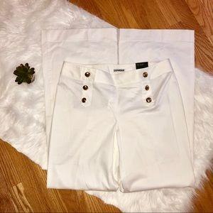 Express Stylist White Wide Leg Sailor Pants 12L
